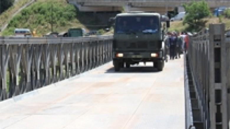 FSK-ja ndërtoi urën mobile mbi lumin Drin