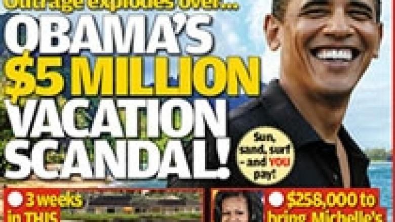 Obama në pushime me paratë e shtetit