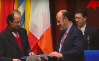Fjalimi i Rugovës më 1998, studentit të Roland Barthesit, kur Parlamenti Evropian ia ndan çmimin Sakharov! (Video)