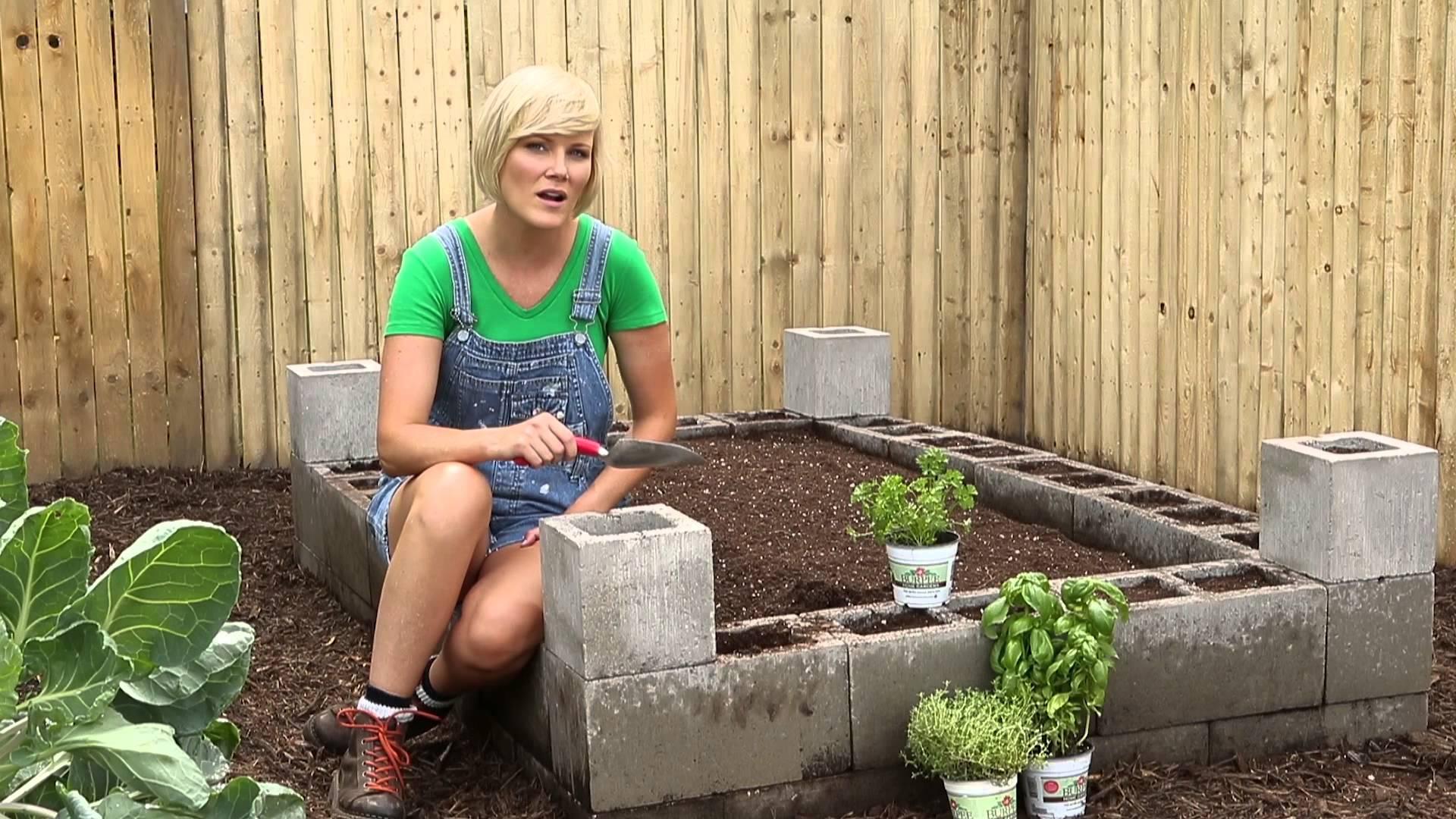 Ndërtoni kopshtin nga blloqe betoni2