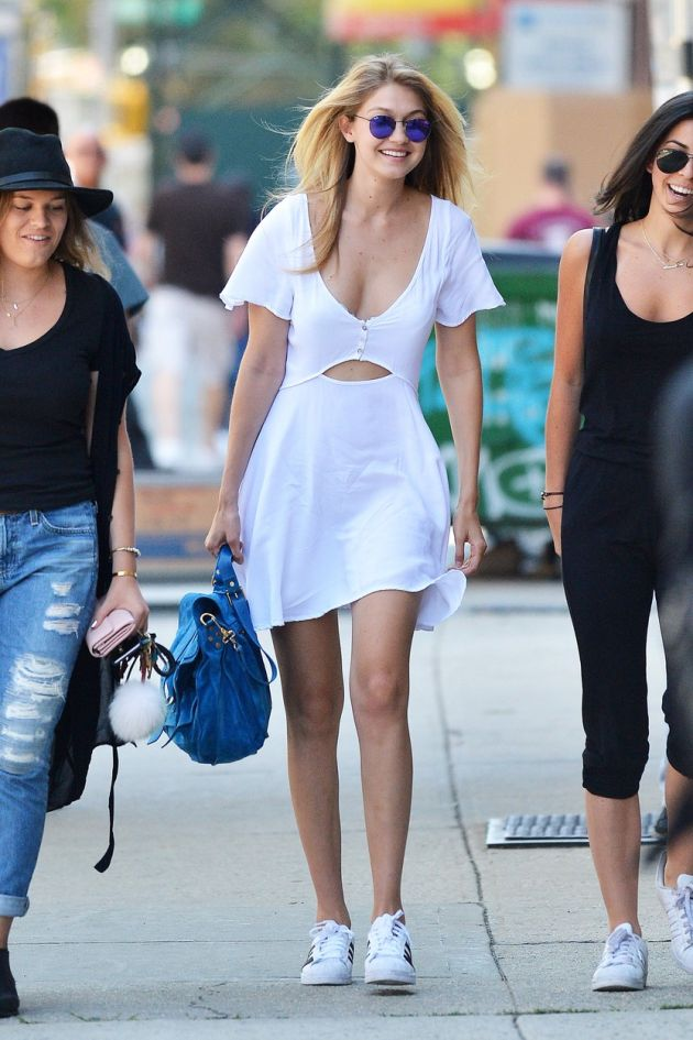 139970, Gigi Hadid seen out and about in Soho with friends. New York, New York - Saturday July 11, 2015., Image: 252595658, License: Rights-managed, Restrictions: , Model Release: no, Credit line: Profimedia, Pacific coast news