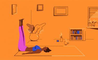 Pesë pozicione Joga për çlodhjen e trupit tuaj