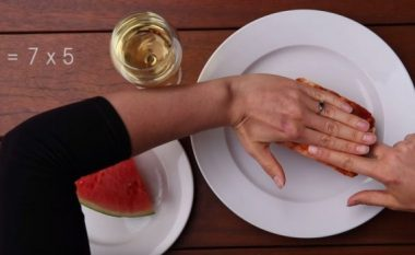 Vetëm mbështetni gishtat: METODË GJENIALE që të masni sa ushqim duhet të hani, por të MOS SHTONI PESHË (video)