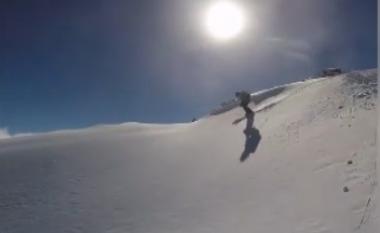 Shikoni momentin kur skiatori i shpëton ortekut teksa lëshohej Malit të Bardhë (Video)