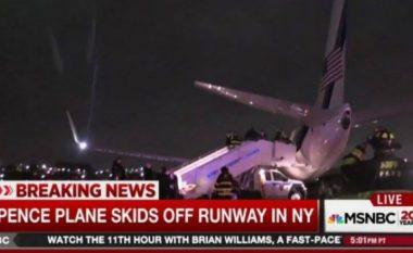 Dramë në New York: Rrëshqet nga pista aeroplani i kandidatit republikan për zëvendëspresident (Foto/Video)