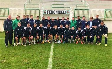 Vizitë speciale te Feronikeli, Demaku përshëndetet me lojtarët