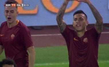Vjen dhe goli i dytë i Romës, super Paredes (Video)