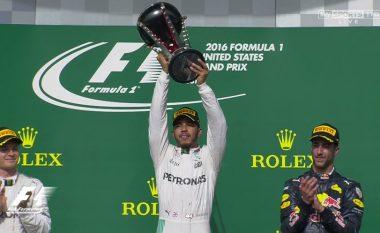 Hamilton nuk dorëzohet, triumfon në garën për Çmimin e Madh të Amerikës