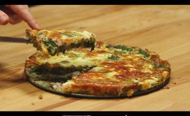 Omëletë me kërpudha dhe spinaq në tepsi (Video)