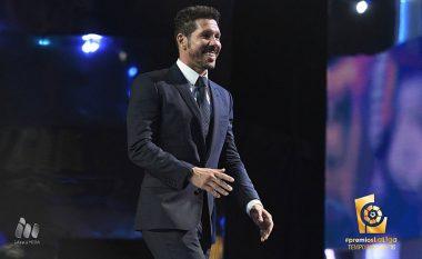 Simeone zgjidhet trajneri i sezonit në La Liga