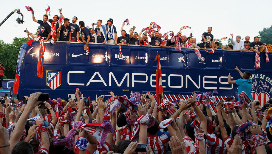 Club Atletico De Madrid Celebrates La Liga Title