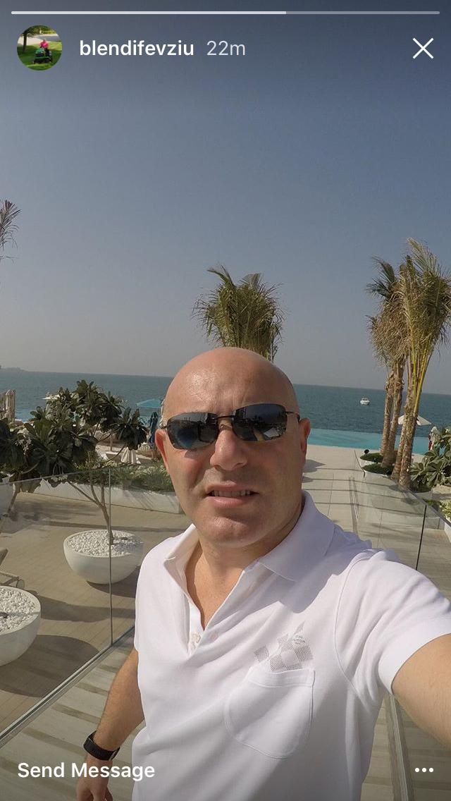 Blendi Fevziu në pushime. Foto nga Instagram Story