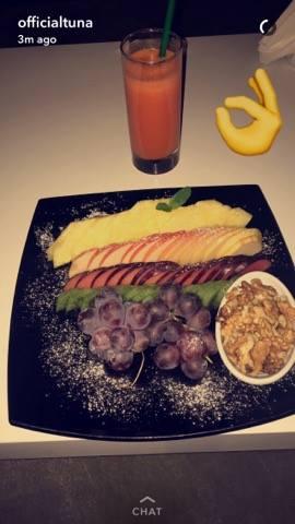 You are what you eat. Ky është parimi i Tunës. Foto: Snapchat