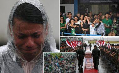 Legjendarët kthehen në Brazil: Skena emocionuese teksa 100 mijë tifozë të Chapecoense u japin lamtumirën e fundit 'kampionëve të përjetshëm' (Foto/Video)