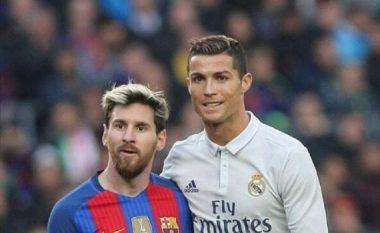 Zbulohen fjalët që Messi dhe CR7 i shkëmbyen teksa shtyheshin gjatë goditjes nga këndi (Video)