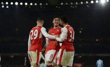 Xhaka mposht Shaqirin, Arsenali lider i përkohshëm i Ligës Premier (Video)