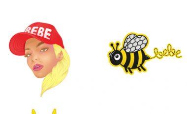 'Stickers' edhe me emrin e Bebe Rexhës (Foto)