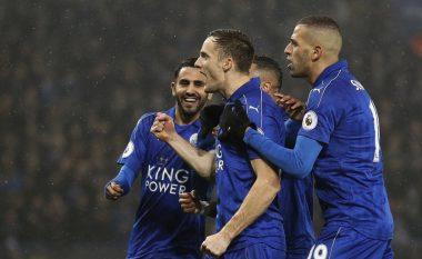 Leicesteri i jep leksion Cityt të Guardiolas, het-trik nga Vardy (Video)