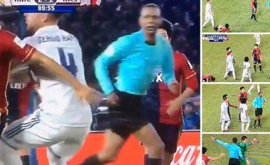 Ramos i bën rregullat edhe në finalen e Botërorit për Klube, gjyqtari 'frikësohet' ta përjashtojë (Foto/Video)