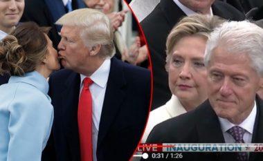 Donald dhe Melania Trump dukeshin të lumtur gjatë inaugurimit, por jo edhe Clintonët (Video)