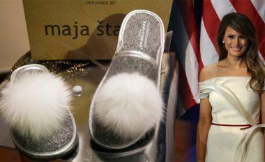 """Sllovenët prodhojnë pantoflat """"Shtëpia e Bardhë"""" të inspiruara nga Melania Trump (Foto)"""
