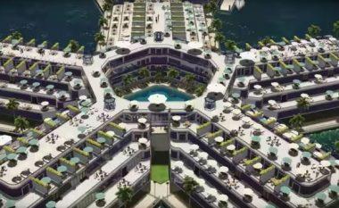 Njihuni me 'qytetin lundrues' që do të ndërtohet në Oqeanin Paqësor (Foto/Video)