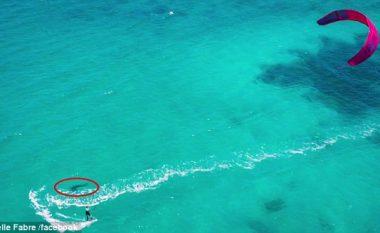 Serf mbi 'gojën' e peshkaqenit (Video)