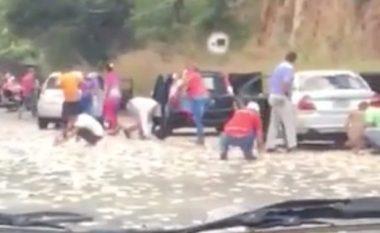 Kalimtarët vjedhin paratë dhe gjësendet e viktimave të aksidentit (Video)