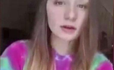 Prapa krahëve të adoleshentes shfaqet një krijesë misterioze (Video)