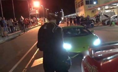 Plas nga inati pronari i Lamborghini Huracane: Humb garën nga një Nissan, sulmon konkurrentin (Video)