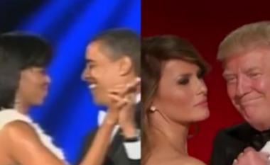Dallimi në vallëzimin presidencial mes çiftit emocional Obama dhe çiftit pa emocione Trump (Video)