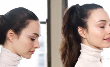 Frizurë elegante për gjysmë ore: Ju nevojiten një kapëse dhe dy kapëse teli! (Video)