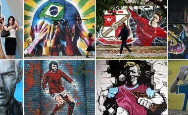 Nga Maradona te Ronaldo e Zidane – Këto janë 20 grafitet në mure më të bukurat për futbollin (Foto)