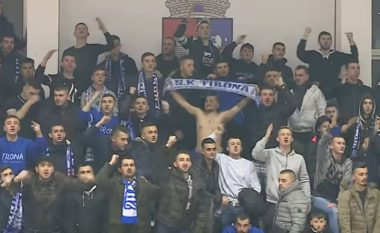 Tifozët ultras të ekipit të Tiranës, sharje kundër serbëve e maqedonasve (Video)