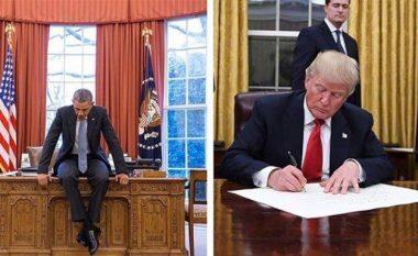 Pse presidentët amerikanë ndërrojnë ngjyrën e perdeve në Zyrën Ovale? (Foto)