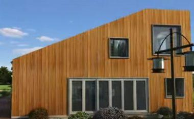 Ka bashkuar tre kontejnerë dhe ka ndërtuar shtëpinë e ëndrrave (Foto)