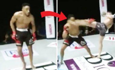 Provon të imitojë Muhammad Alin, por dy sekonda me vonë merr nokaut (Video)
