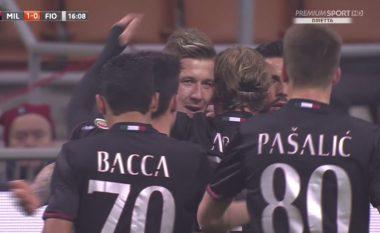 Dy gola të shpejtë në ndeshjen Milan- Fiorentina (Video )