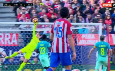 Ter Stegen ia mohon golin Griezmannit me një pritje fantastike (Video)