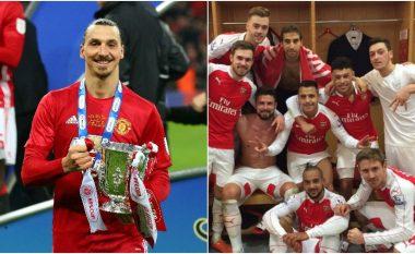 Ibra u jep leksione yjeve të Arsenalit në rrjetet sociale me dy postimet e fundit (Foto)