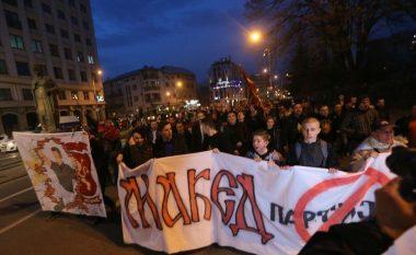 Prifti bekon protestat anti-shqiptare në Shkup (Video)