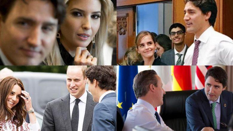 """12 personalitetet që u """"mahnitën"""" gjatë takimit me Justin Trudeau (Foto)"""