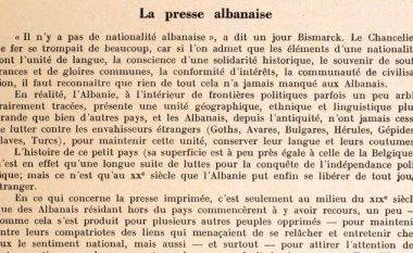 Studim i rrallë dhe i veçantë francez, për shtypin shqiptar të viteve 1848-1939