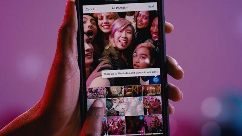 Instagram: Në një postim tani mund t'i keni deri në 10 foto ose video!