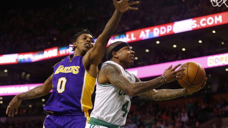 Bostoni e tejkalon me fitore LA Lakers pas triumfit në TD Center (Video)