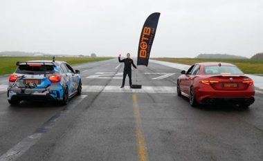 Alfa Romeo Giulia dhe Mercedes-AMG A45, matin forcat në terren të lagur (Video)