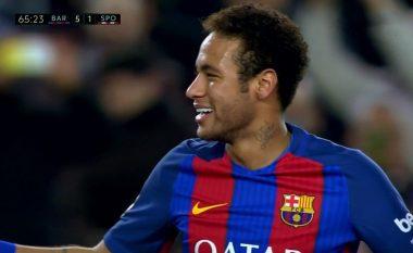 Neymari shënon gol magjik nga gjuajta e lirë (Video)