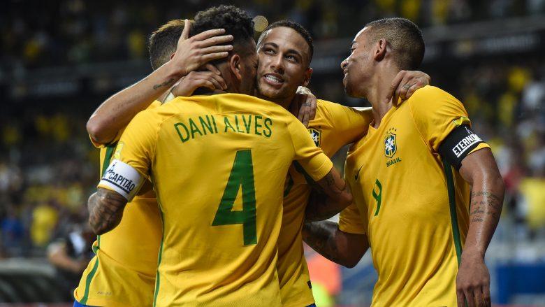 Brazili publikon listën për dy ndeshjet e ardhshme, mungon Neymar, kthehet Alex Sandro