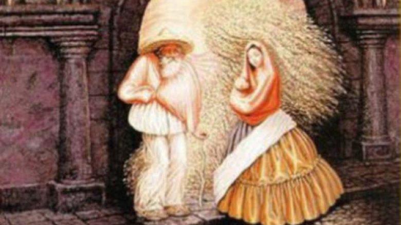 """Gjejini nëntë fytyrat, të """"fshehura"""" në këtë pikturë të vjetër (Foto)"""