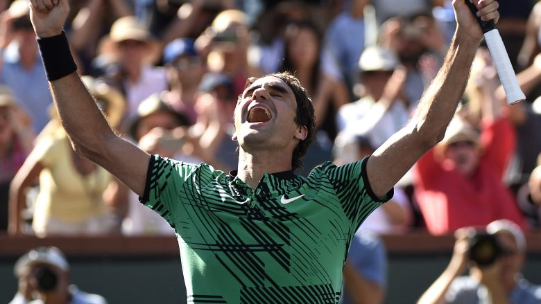 Federer rrëmben trofeun e Indian Wells